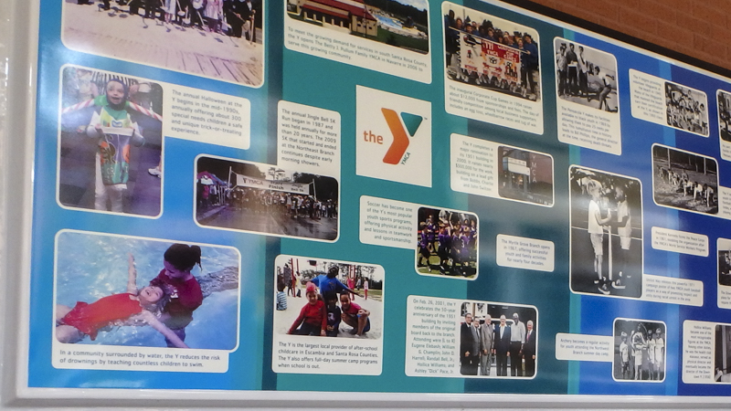 SignGeek Values Timelines and Wall of Fame - Timeline Board for YMCA in Downtown Pensacola