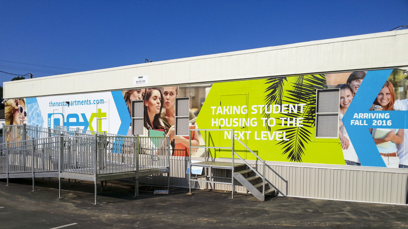 Wall wrap for Next Apartments - Signgeek Environmental Graphics