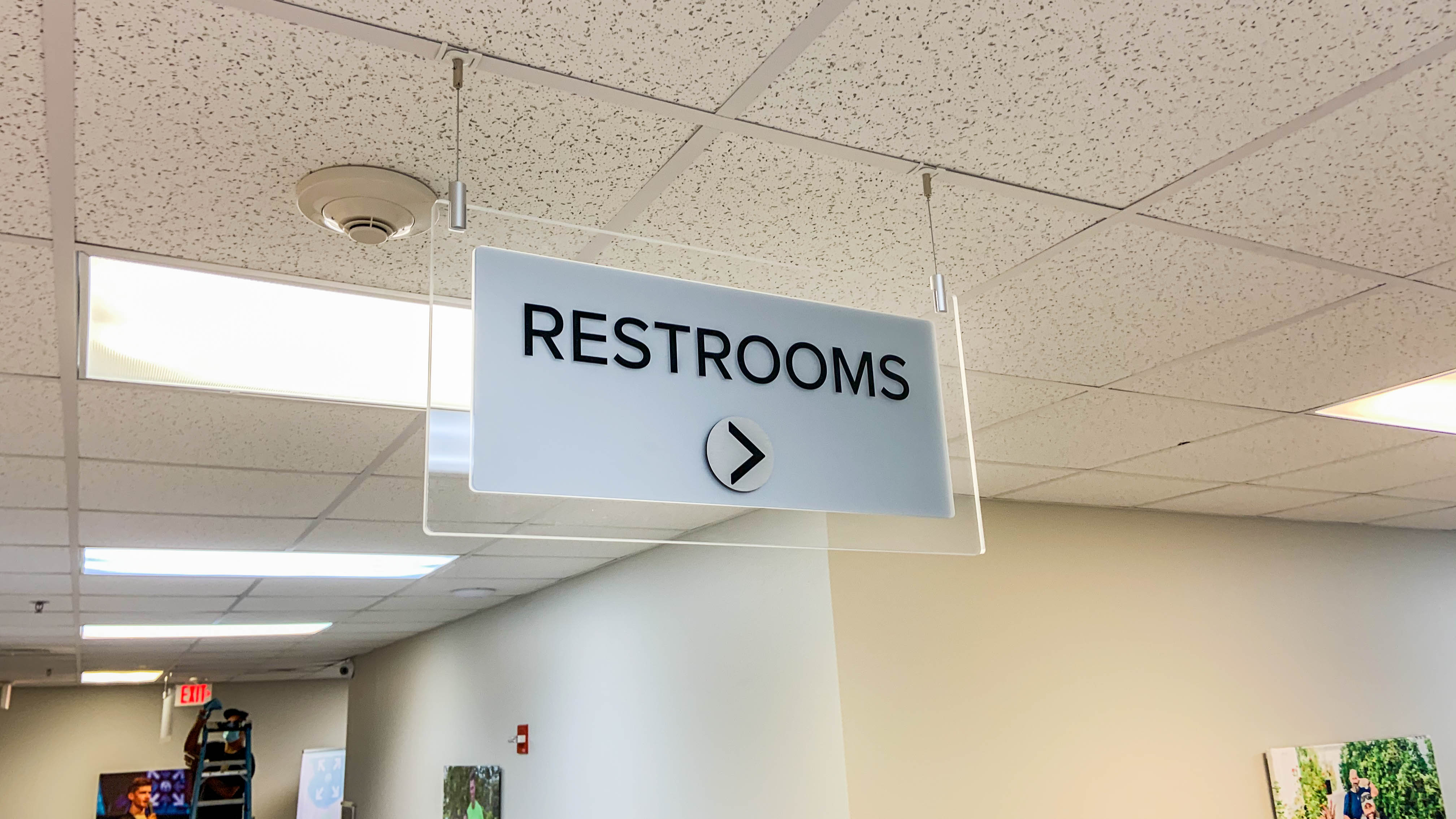 Acrylic restrooms signage