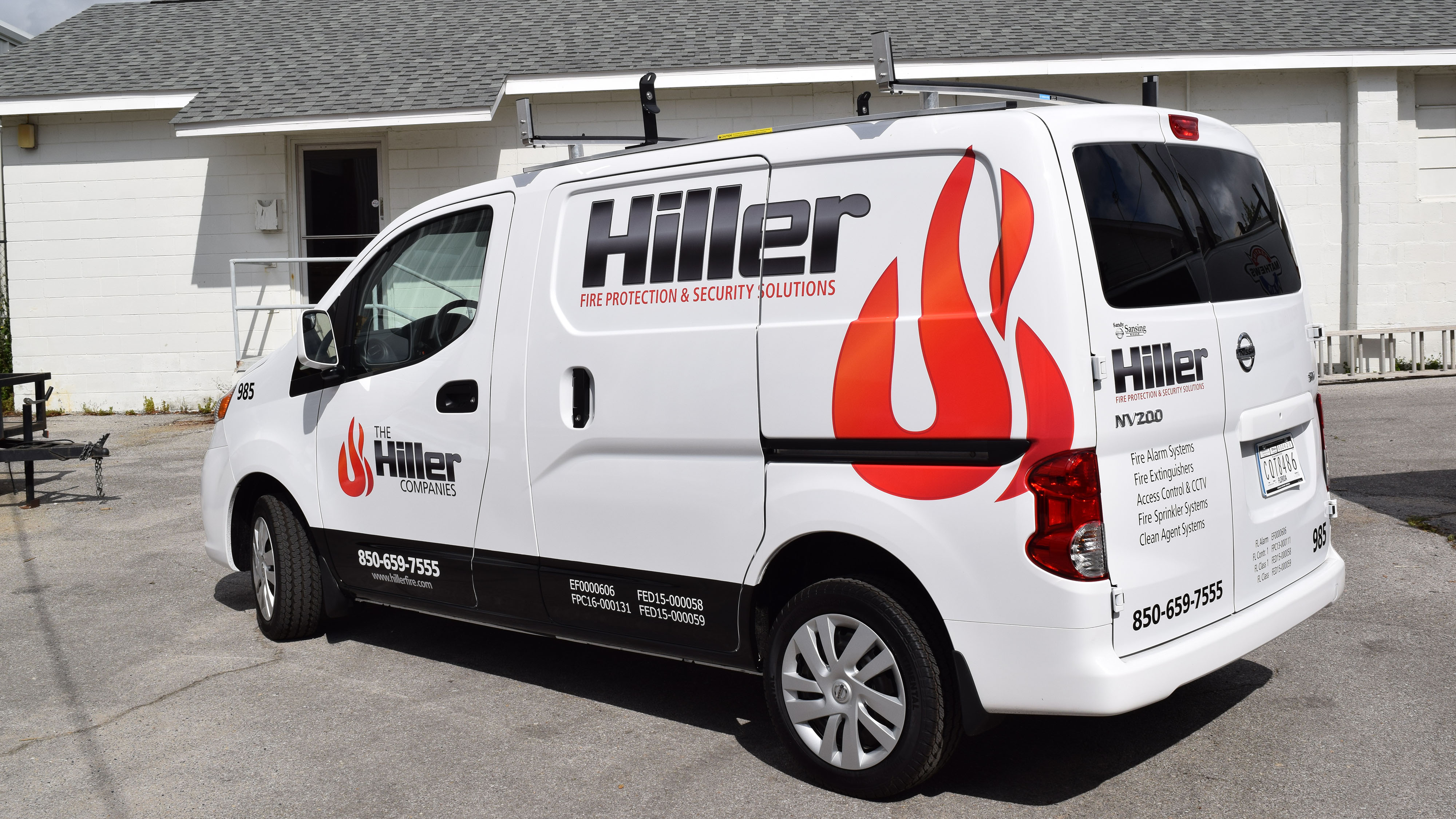 Hiller van graphics - signgeek fleet wraps and graphics