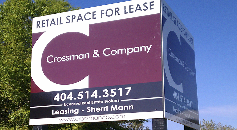 Real estate property site sign