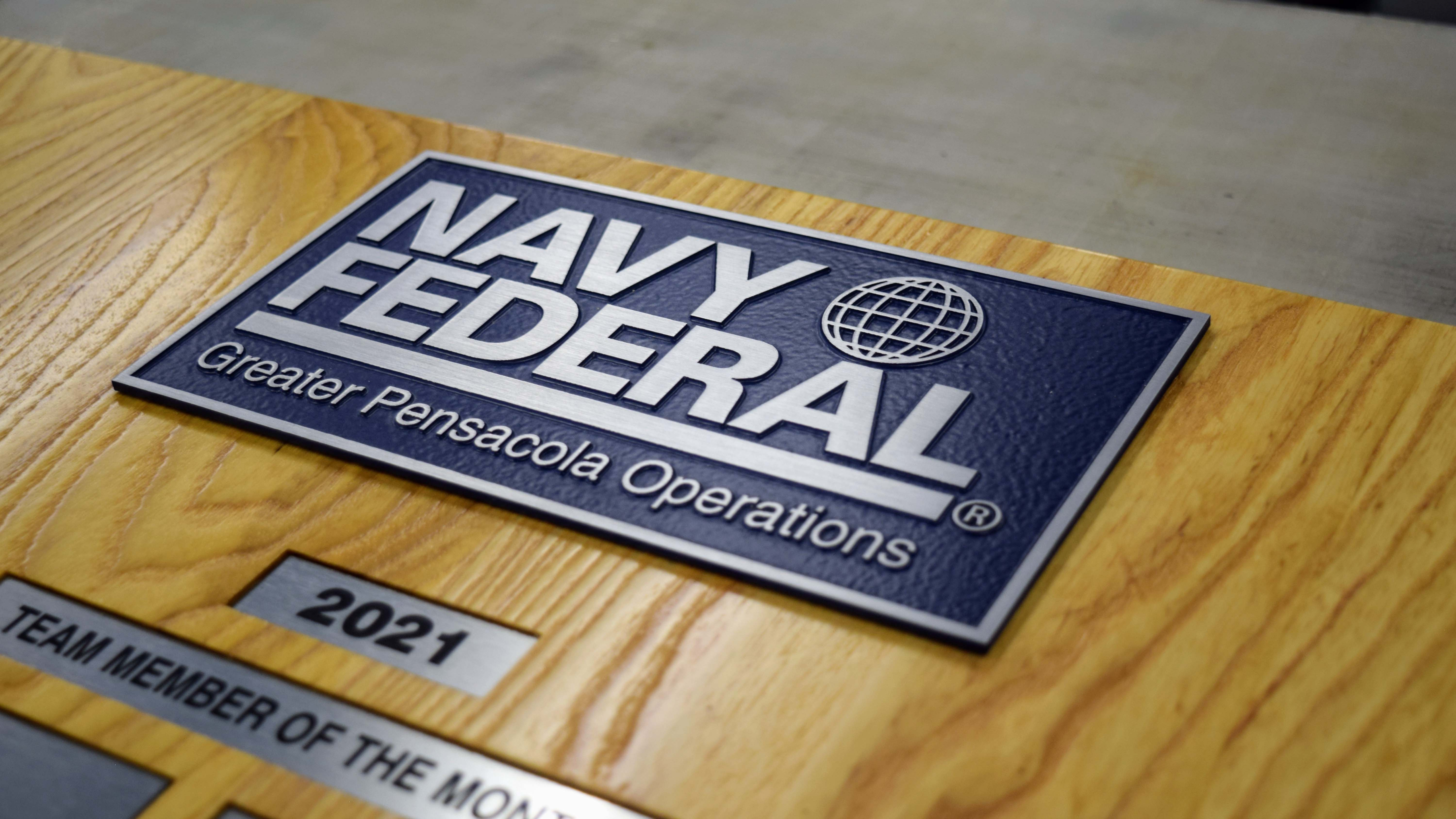 Employee recognition board for Navy Federal by signgeek