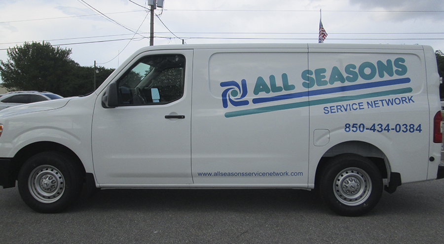 All seasons van graphic in pensacola florida
