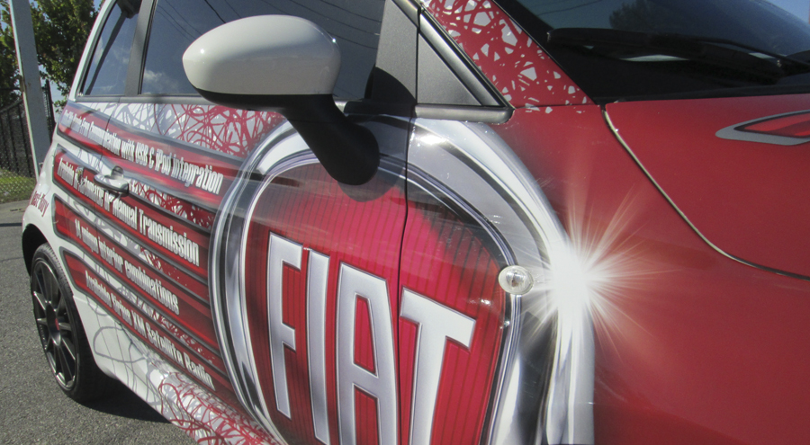 full color vehicle wraps for Fiat Pensacola