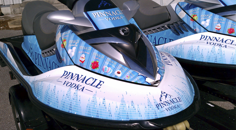 Jet ski Wrap for Pinnacle Vodka