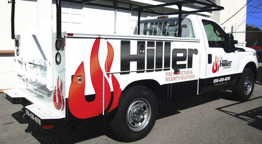 Utility truck graphic for Hiller